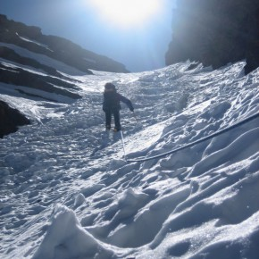 CORREDOR INVERNAL: Norte del Veleta (3428 m) en Sierra Nevada, Granada